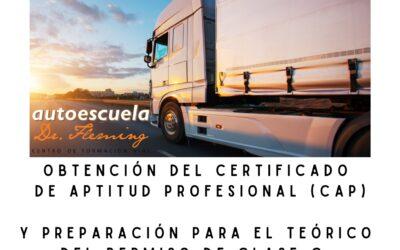 Curso de Obtención del Certificado de Aptitud Profesional-CAP